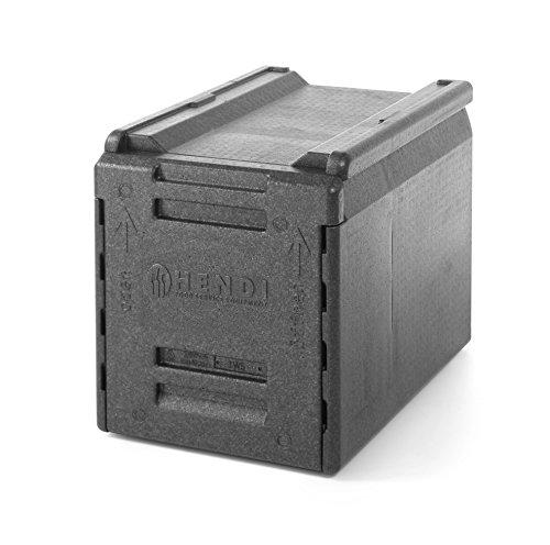 HENDI Thermo Catering Container, mit 5 Einschüben für GN-Behältern mit einem Abstand von 65mm, Thermo frontlader, 66L, 600x400x(H)490mm, Polypropylen