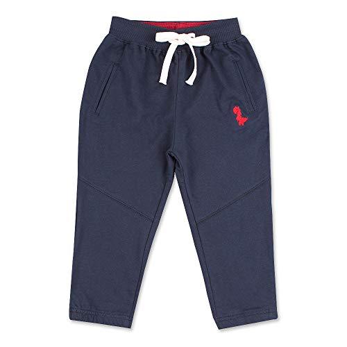 Pesaat Pantalones de chándal para niños, pantalones largos de algodón para niños, transpirables, elásticos, en gris, 3-8 años marine 120 cm