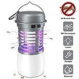 JBHOO Lampada Anti Zanzara, Zanzariera Elettrica UV Impermeabile Portatile 2 in 1 zanzarie...