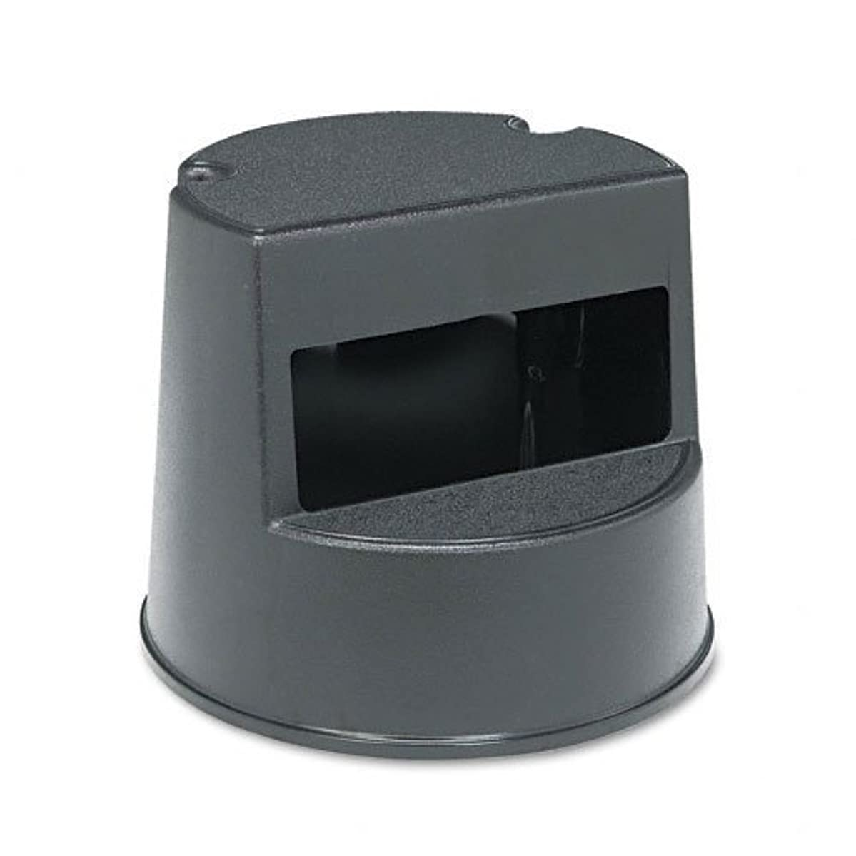 Rubbermaid 252300BK Rolling Step Stool Curved Design Retracting Casters 16 dia. x 13 1/2h Black