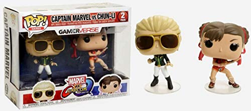 Funko Pop Games Capcom Figuras de Vinilo Capitana Marvel vs Chun-Li Exclusive, Multicolor (23978)