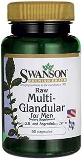 Swanson Raw Multi-Glandular for Men 60 Capsules
