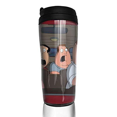 haiyou Simpsons - Tazas de café con aislamiento de doble pared, reutilizables, cómodas de llevar, interruptor de salida de agua en la tapa de la taza, bonitas y prácticas.