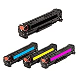 TonerBoss C118S4 Remanufactured Canon 118 High Capacity Toner Cartridges for Color Image Class MF8280C (Pack of 4)