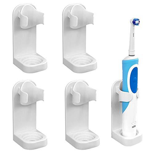 LemonM - Soporte para cepillo de dientes eléctrico, autoadhesivo, 4 unidades