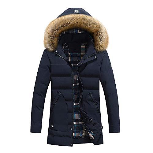 Boutique Daunenjacke Herren Winter Lange Wintermantel FRAUIT Männer Hut Zipper Hooded Jacket Polarabenteuer, Skifahren Sport Freizeit Reisen Warm Atmungsaktiv Bequem Lose Kleidung Coat
