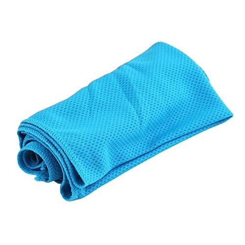 IAMZHL Toalla Deportiva de Microfibra Toalla de Hielo de enfriamiento rápido Toallas de Playa de Secado rápido Natación Aguafrío instantáneo Toallas de Yoga-Sky Blue