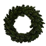 PULEO ASIA LIMITED 301-W7130 PVC Artificial Wreath, Green, 24-in. - Quantity 1