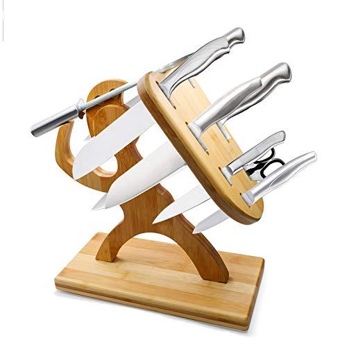 Magnetischer Messerblock, Holz Halter, Kreatives Krieger Modellieren, Multifunktional Messerstand, Scherenhalter, Küche Veranstalter, Geschenk Kochen (Messer Nicht Enthalten)