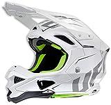 Ufo Diamond - Casco para motocross, color blanco
