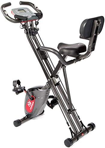 ADVENOR Exercise Bike Magnetic Bike Fitness Bike Cycle Folding Stationary Bike Arm Resistance product image
