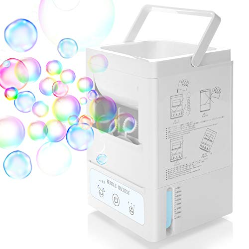 Portable Bubble Machine for Kids, Automatic Bubble Blower Rechargeable Bubble Maker Toy With...
