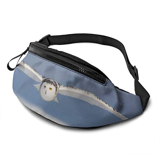 XCNGG Bolso de la cintura del ocio bolso que acampa bolso del montañismo Waist Pack Bag for Men&Women, Surreal Optical Illusion Wolf Utility Hip Pack Bag with Adjustable Strap for Workout Traveling Ca