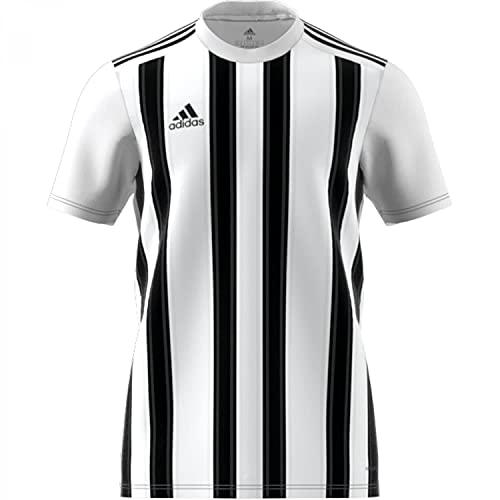 adidas Striped 21 JSY T-Shirt, Mens, White/Black, M