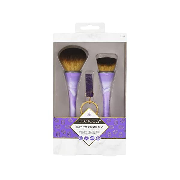 Beauty Shopping EcoTools Amethyst Crystal Trio Makeup Brush Set, Purple (Set