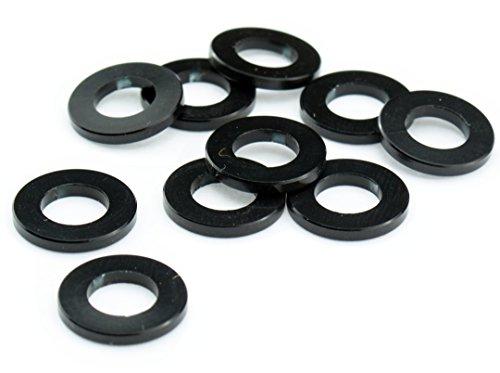 Unterlegscheiben M5 Aluminium Scheibe DIN 125 Alu schwarz eloxiert 5mm