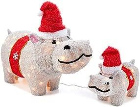 light up hippo christmas