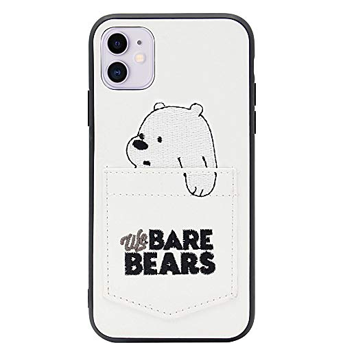 MC Fashion iPhone 11 Case, Cute Cartoon Bears Characters Wallet Case with Card ID Slot, Ultra Slim PU Leather Protective Case for Apple iPhone 11 6.1 inch 2019 (Ice Bear)