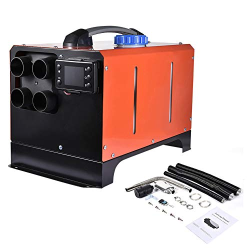 Kaigelu888 Standheizung Diesel 5KM Luft Diesel LCD Heizung 12/24V Standheizung Dieselheizung anhänger Heizung Wohnmobil zubehör Wohnmobil, Schneepflug, Wohnmobil, Anhänger, LKW, Boote (Rot, 24V)