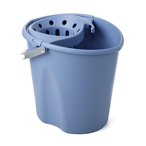 TATAY 1103300 - Cubo de Fregar graduado Ovalado con Escurridor y Asa, Capacidad para 12 Litros, Color Azul, 34 x 28 x 30,5