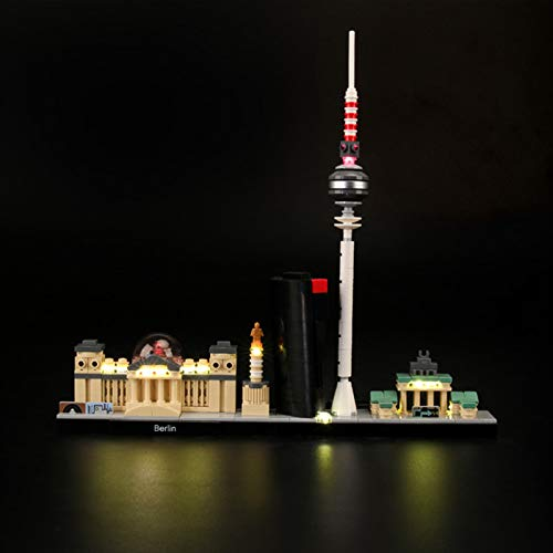 iCUANUTY Kit de Iluminación LED para Lego 21027, Kit de Luces Compatible con Lego Architecture Berlin (No Incluye Modelo Lego)