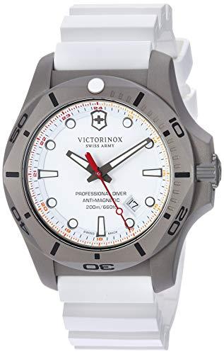 Victorinox Swiss Army masculino I.N.O.X. Relógio Pro Diver, White Dial, White Rubber Strap, Men's Standard