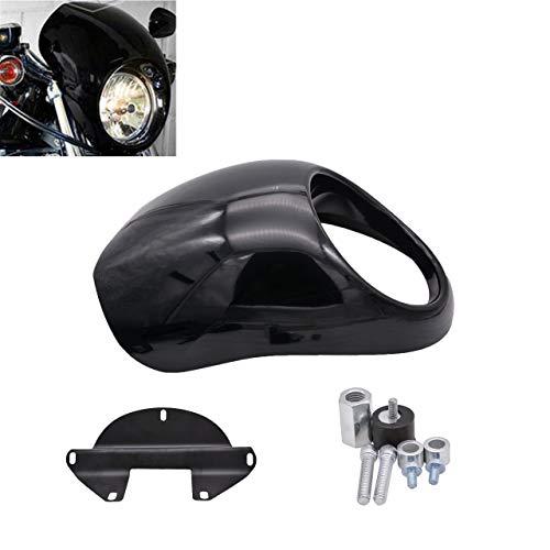 NATGIC Motorcycle Headlight Cover Headlight Fairing Cowl Mask Visor Cover for Harley Davidson Dyna Sportster Visor-Set