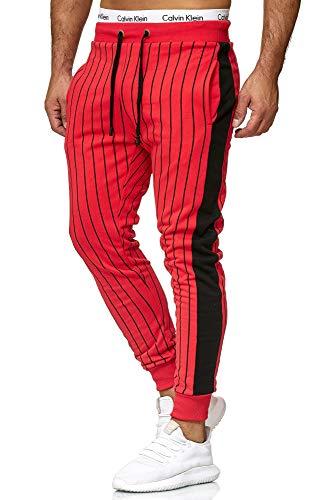 OneRedox | Herren Trainingsanzug | Jogginganzug | Sportanzug | Jogging Anzug Jogging-Anzug Modell A11 Rot XL