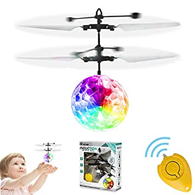 GALOPAR Flying Ball Toys, Rechargeable Ball Drone Light Up RC Toy Infrared Induction Helicopter with Remote Controller for Kids Boys Girls Gifts for Indoor and Outdoor Games from GALOPAR