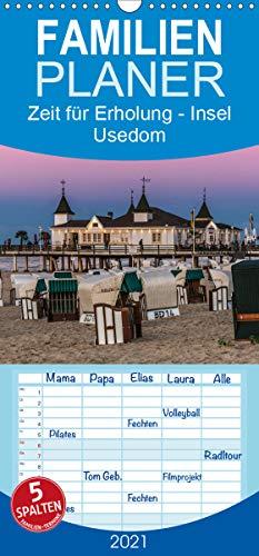 Zeit für Erholung - Insel Usedom/Geburtstagskalender - Familienplaner hoch (Wandkalender 2021, 21 cm x 45 cm, hoch)