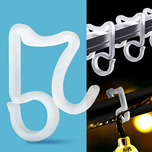 Holiday Light Clips Christmas Light Clips Outdoor Hang Gutter Hooks for Christmas Decoration String Lights Weatherproof Outdoor Lights Clip for Halloween Xmas(100 Pieces)
