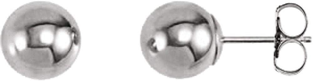 14k White Gold 7mm Ball Earrings
