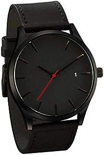 Men'S Casual Watch High-End Business Matte Belt Quartz Watch