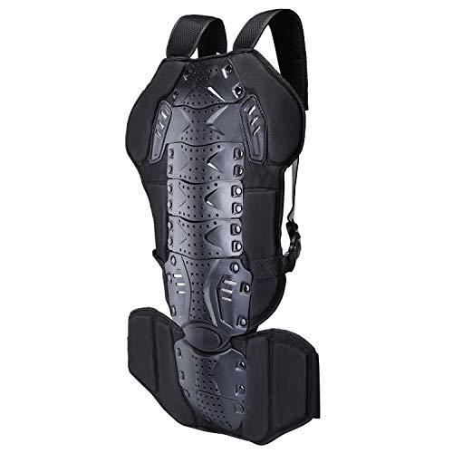 Wildken Rückenprotektor, Snowboard Schutzkleidung EVA-Polsterung mit Nylon Stoff für Motocross Motorrad Ski Skating Fahrrad Radsports(Schwarz)