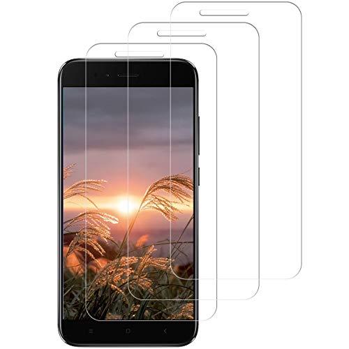 Aspiree 3 Stück Panzerglas Schutzfolie kompatibel mit Xiaomi Mi A1/5X, Gehärtetes Glas Displayschutzfolie mit 9H Härte, HD Ultra Klar, Anti-Kratzen, Anti-Öl, Displayschutz Folie für Mi A1/5X