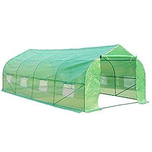 HOMCOM - Invernadero caseta 600 x 300 x 200 Jardin terraza Cultivo de Plantas semilla