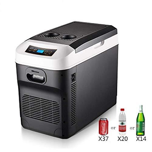 Portatil nevera Refrigerador de Coche 28L 12V 24V 220V Minibar Pequeño Pantalla Digital de Temperatura Temperatura ajustable para Acampar de Camiones Camión de Larga Distancia Que Conduce Viajes
