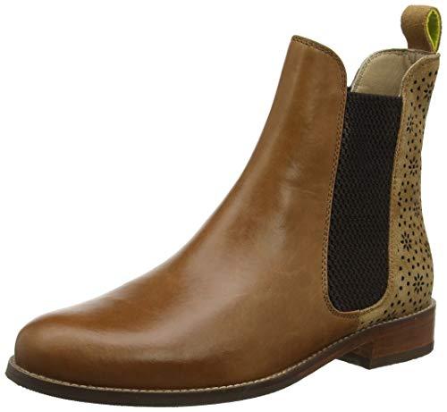 Joules Damen Westbourne Chelsea Boots, Braun (Tan Geo Laser Cut Tangelo), 37 EU