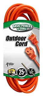 Coleman Cable 02207 16/2 Vinyl Outdoor Extension Cord, Orange, 25-Feet (B002CGRLE8) | Amazon price tracker / tracking, Amazon price history charts, Amazon price watches, Amazon price drop alerts