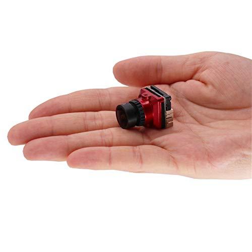Amyove FPV Kamera 1/1.8 800TVL HD CCD 2.1mm 5MP OSD Taste DC 5-.30V NTSC PAL Einstellbarer Winkel Umschaltbare Kamera Für RC Quadcopter Drone rot