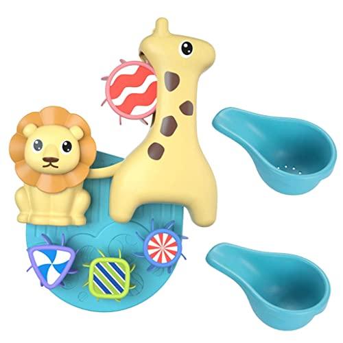Sharplace Rueda hidráulica clásica para Animales, Juguete para bañarse, Ventosa, Molino de Viento, Rueda hidráulica giratoria, Juguetes de baño para bebés,