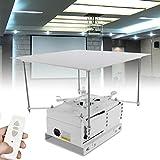 Soporte para proyector motorizado automatizado de techo con mando a distancia para montaje en techo y proyector ajustable 10 kg máx.