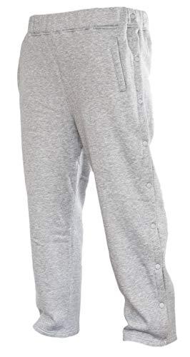 Funny Guy Mugs Retro Tearaway Sweatpants - Premium Breakaway Pants (Grey, Large)