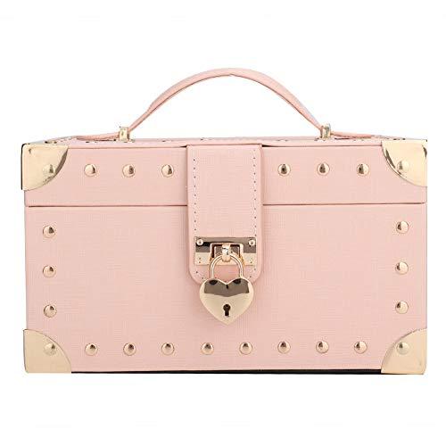 OIHODFHB Caja de almacenamiento para collar de 2 capas, color rosa