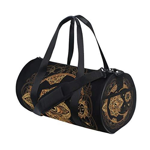 Bolsa de deporte de gimnasio Crescent Moon Sun Mandala viaje bolsa de viaje para hombres y mujeres