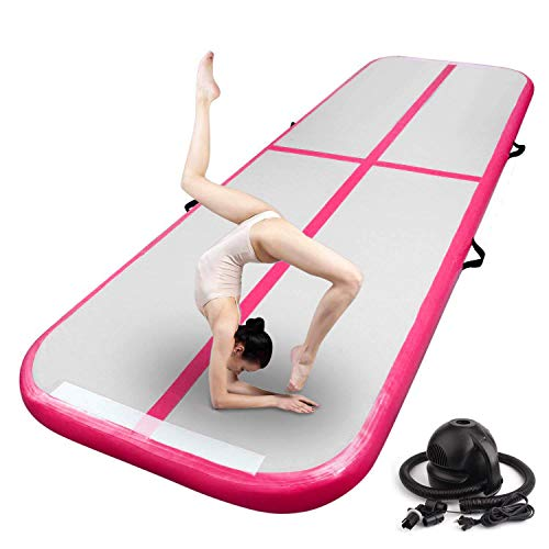 FBSPORT airtrack 10cm hoch Verdicken Aufblasbar Gymnastikmatte 3m AirTrack Matte für Gym Training Yogamatte Trainingsmatten Weichbodenmatte Turnmatte Fitnessmatte Aufblasbar Tragbar