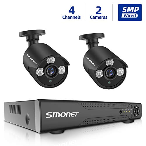 Best Review Of SMONET 5MP Security Camera System,4 Channel Home Security Camera Systems 5-in-1 5MP D...
