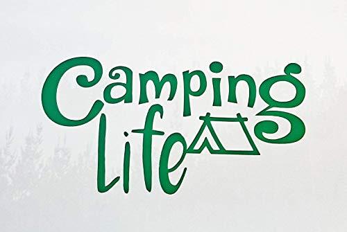 Camping Life Vinyl Decal auto Window Decal Laptop Sticker Wijn Glas Decal Yeti Tumbler Sticker Teken Sticker Muursticker Natuur Reizen