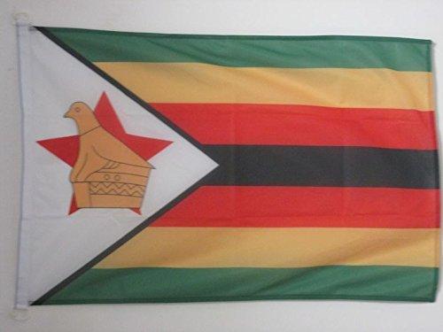 AZ FLAG Flagge SIMBABWE 90x60cm - Republik SIMBABWE Fahne 60 x 90 cm Aussenverwendung - flaggen Top Qualität