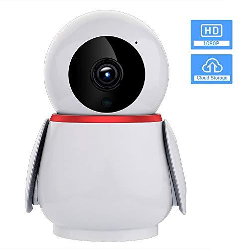 FTSUI draadloze 1080P FHD IP-camera, smart tracking infrarood nachtzicht HD-home camera kop met AI-bewegingsdetectie / 2-weg audio voor veiligheid thuis